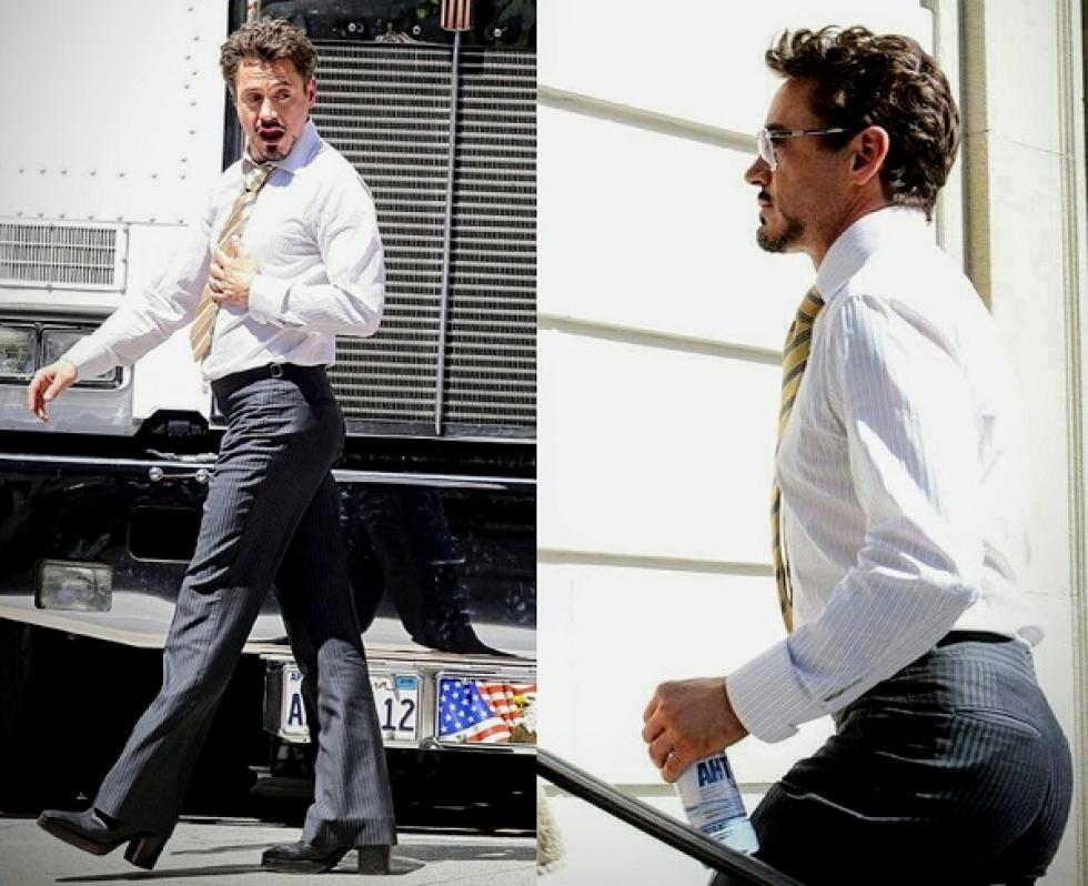 Magassarkúban kellett forgatnia Robert Downey Jr-nak