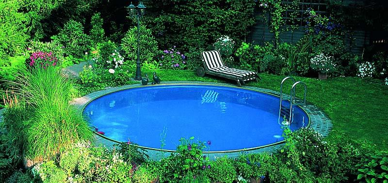 Fémfóliás, kör alakú medence
