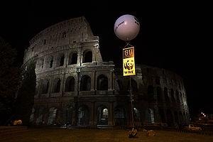 2008 elsötétült Colosseum