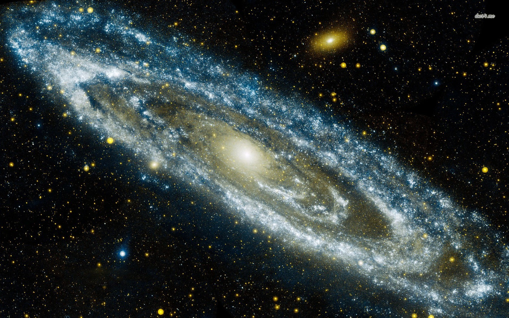 Image of the Andromeda Galaxy or M31 from NASA's Galaxy Evolution Explorer (GALEX)