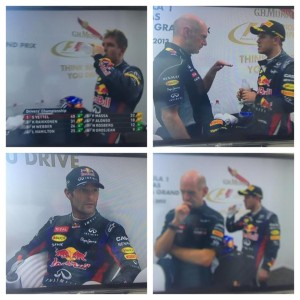 TV képek a jókedvű Webberről és Vettelről (c) Formula One Managament