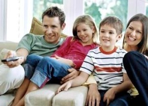 TV-néző család