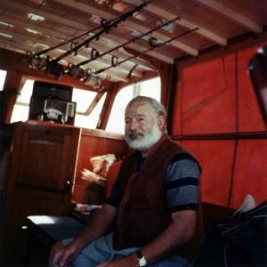Hemingway saját hajóján 1950 körül