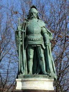 Hunyadi János szobra a Hősök terén