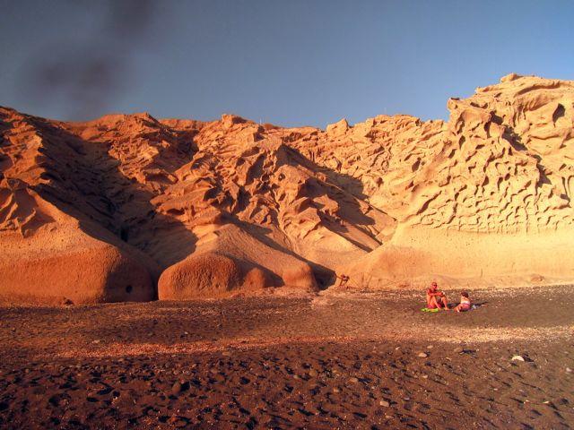 on-red-beach-santorini