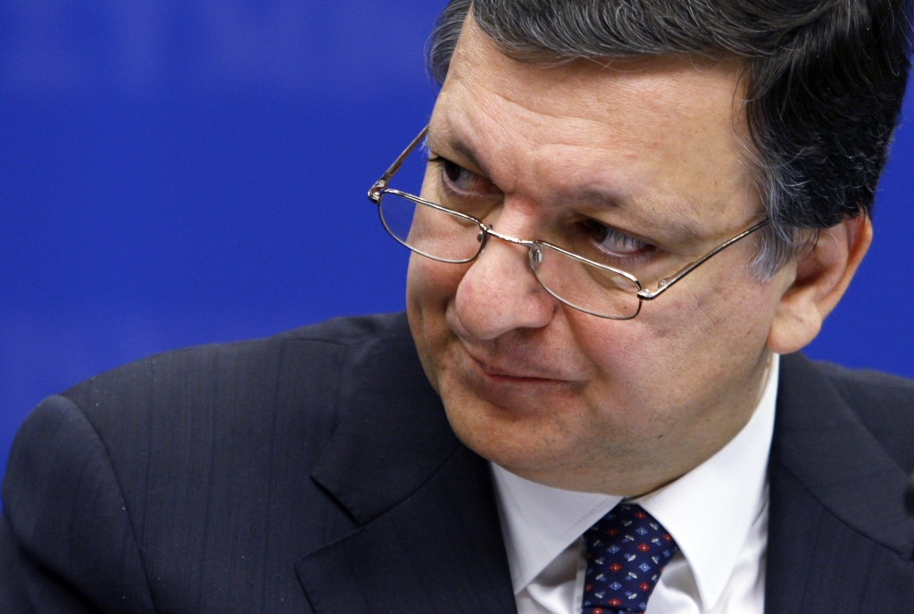 EU Commission President Barroso addresses a news conference in Brussels