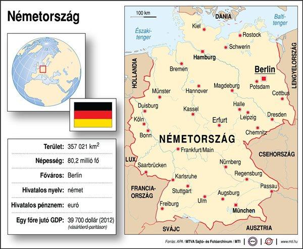 németország térkép Németország (térkép, adatok) | Hír.ma németország térkép