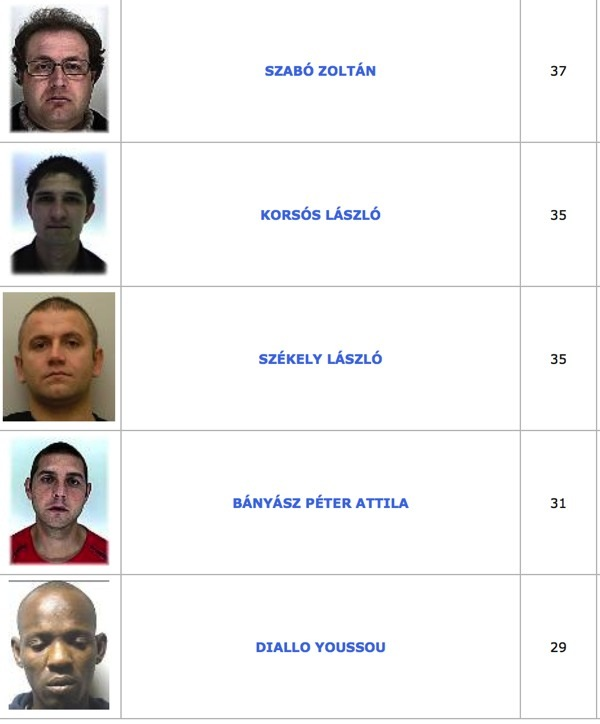 TOP100 körözött bűnöző1