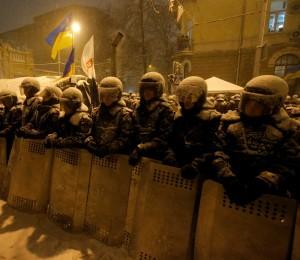 Ukrajina Protest Polícia