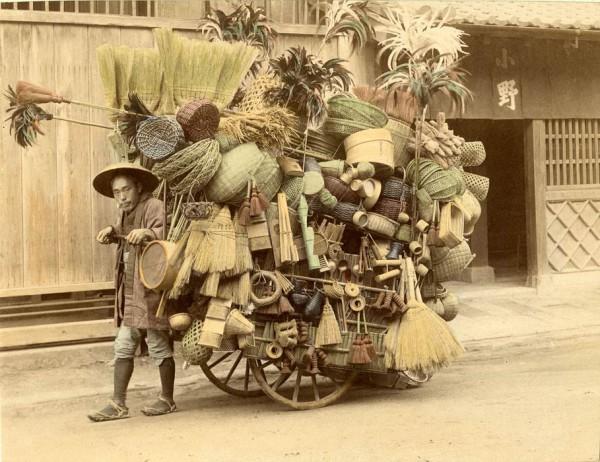 1901. Japán vándor kosár- és seprűárus