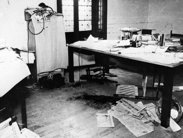 Murder scene where Spanish communist Ramon Mercader assassinated Leon Trotsky in Coyoacan, Mexico