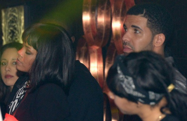 *EXCLUSIVE* Rihanna reunites with Drake at Club Soixante Dix Neuf **USA ONLY**