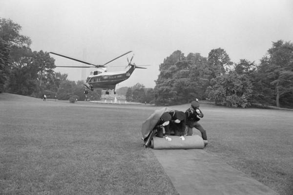 The Watergate Scandal, President Nixon leaves White House
