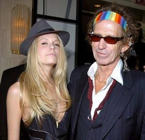 Theodora és Keith Richards