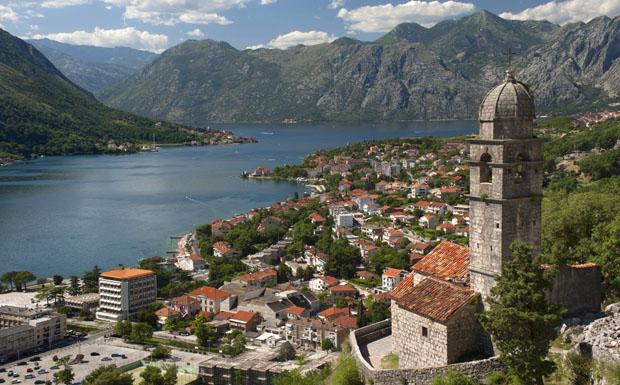 """""""Crkva Gospa od Zdravlja"""" church, Kotor bay, Montenegro."""