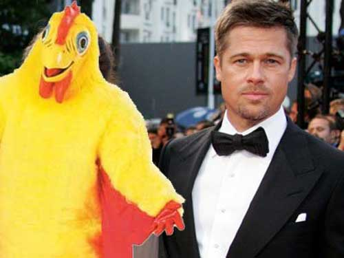 Brad-Pitt-worked-as-a-chicken-mascot-for-El-Pollo-Loco
