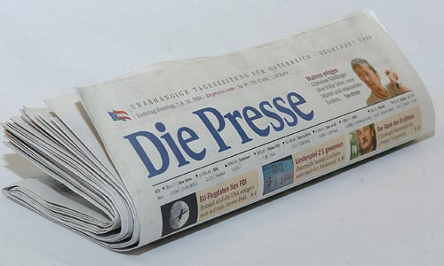 "Zeitung ""Die Presse""Photo: Michaela Bruckberger"