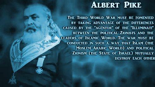 Alber Pike azt mondta, hogy a teljes hatalom átvételhez 3 világháború szükségelteik!
