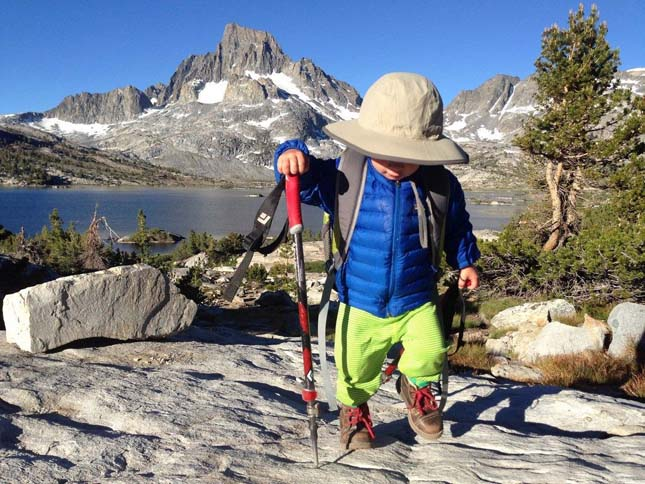 Backpacking toddler