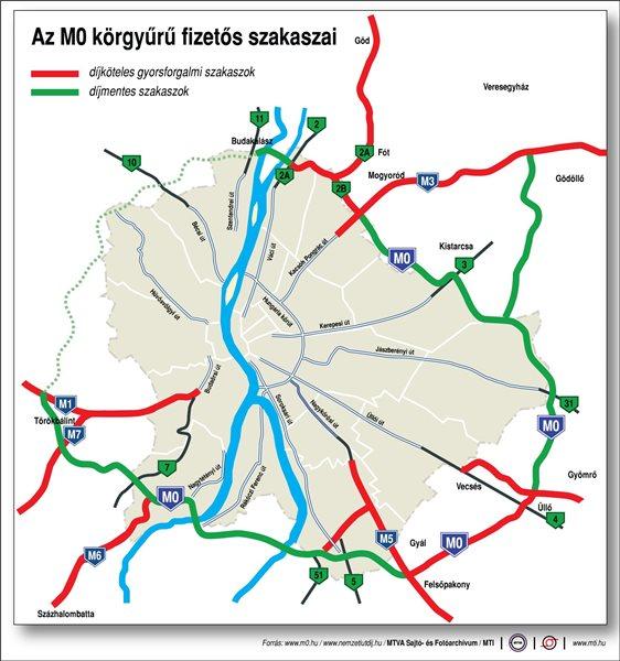 m0 térkép Az M0 körgyűrű fizetős szakaszai (térkép) | Hír.ma m0 térkép