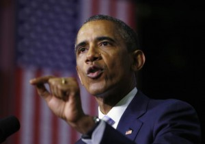 Obama speaks about community college education during a visit to Pellissippi State College in Knoxville