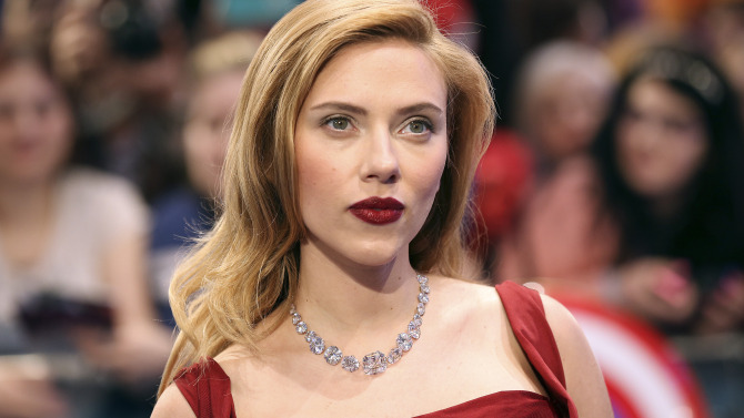 "Actress Scarlett Johansson arrives at the UK premiere of ""Captain America: The Winter Soldier"" at Shepherds Bush in London"