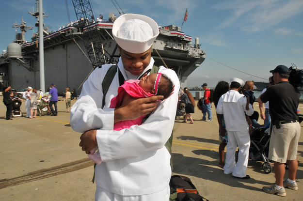 Sailor-Demontay-Blue-meets-his-infant-daughter