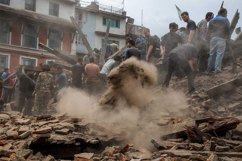 Kathmandu Struck By Powerful Earthquake