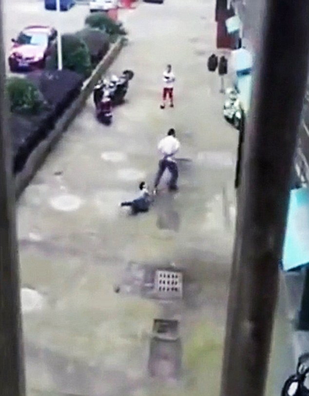 Brutal Dad Given Ticking Off For Son On A Rope