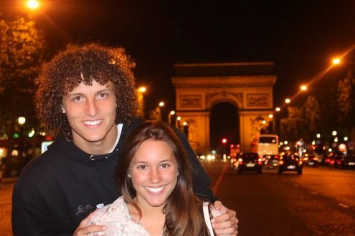 David Luiz Girlfriend Sara Madeira 2014_2