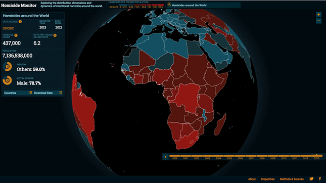 Globális gyilkosságtérképre a cikk végén kattinthatunk