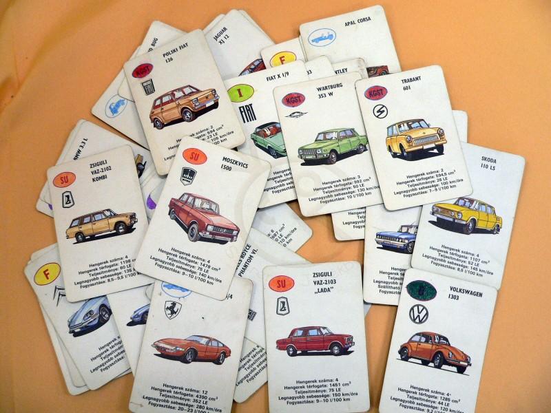 Autóskártya fiúknak, de még a lányok is kedvelték
