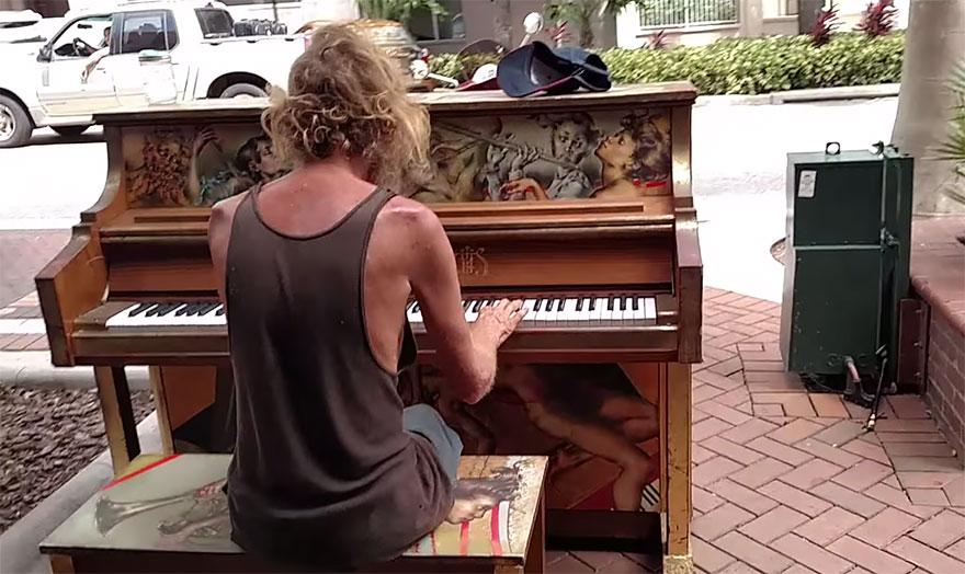 homeless-man-plays-piano-styx-come-sail-away-donald-gould-sarasota-keys-2