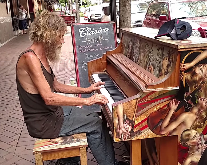 homeless-man-plays-piano-styx-come-sail-away-donald-gould-sarasota-keys-4