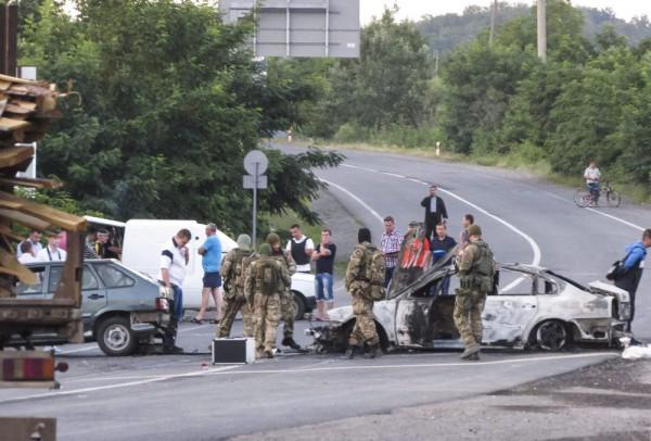 Ukrán válság – Lövöldözés Munkácson