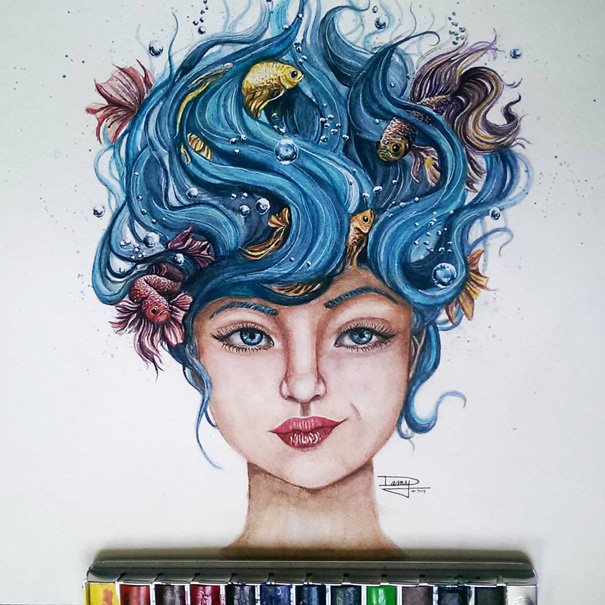 realistic-watercolor-paintings-dany-lizeth-1