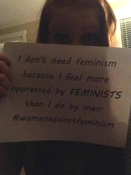 Nem kérek a feminizmusból, mert sokkal inkább a feministákat érzem nyomasztónak, mint a férfiakat
