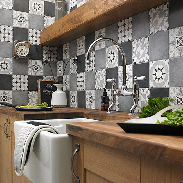 Modern Kitchen Backsplash 2015: Csempék Patchwork Mintával