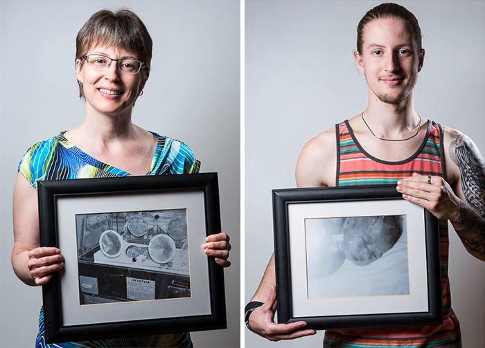 Julie hét hónapra született, fia, Kevin 34 hétre