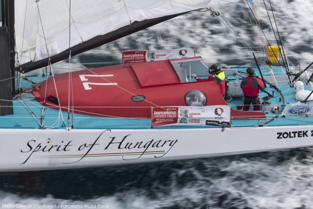 23/12/2014, Barcelona (ESP), Barcelona World Race 2014-15, Barcelona Trainings, Spirit of Hungary (Nandor Fa, Conrad Colman)
