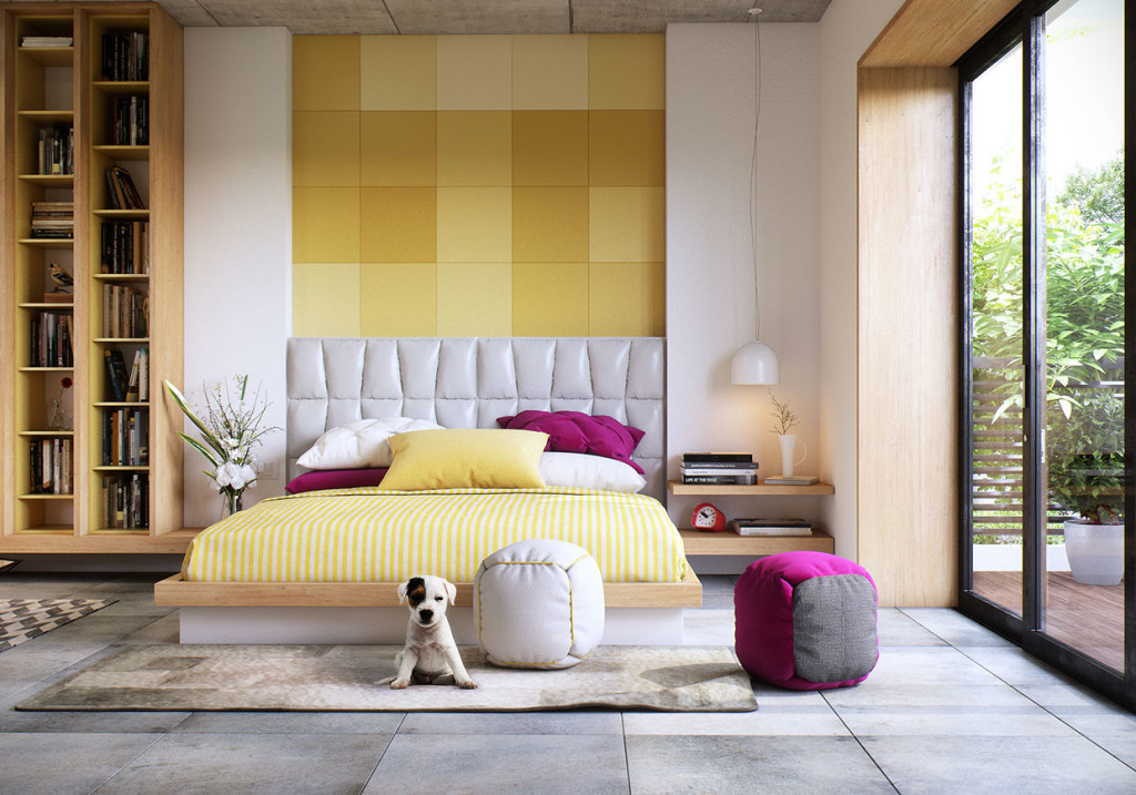 yellow-themed-bedroom