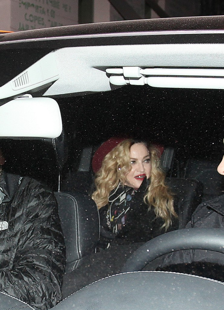 Madonna celebrates Thanksgiving Day with a dinner and party in Barcelona
