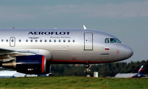 Fluggesellschaft Aeroflot in Russland
