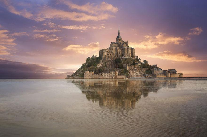 Aranyhaj  – Mont Saint-Michel, Normandia, Franciaország