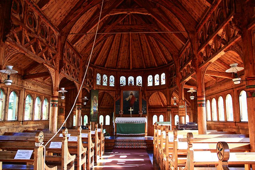 Jégvarázs – St. Olaf's templom, Balestrand, Norvégia