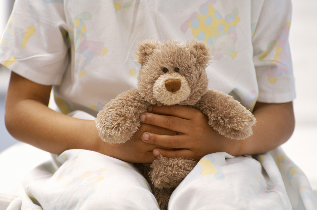 Young Patient with Teddy Bear