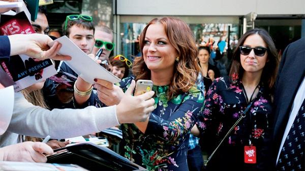 Mandatory Credit: Photo by Maja Smiejkowska/REX Shutterstock (4905634m) Amy Poehler and fans 'Inside Out' film premiere, London, Britain - 19 Jul 2015