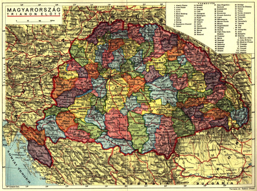Great Hungary map