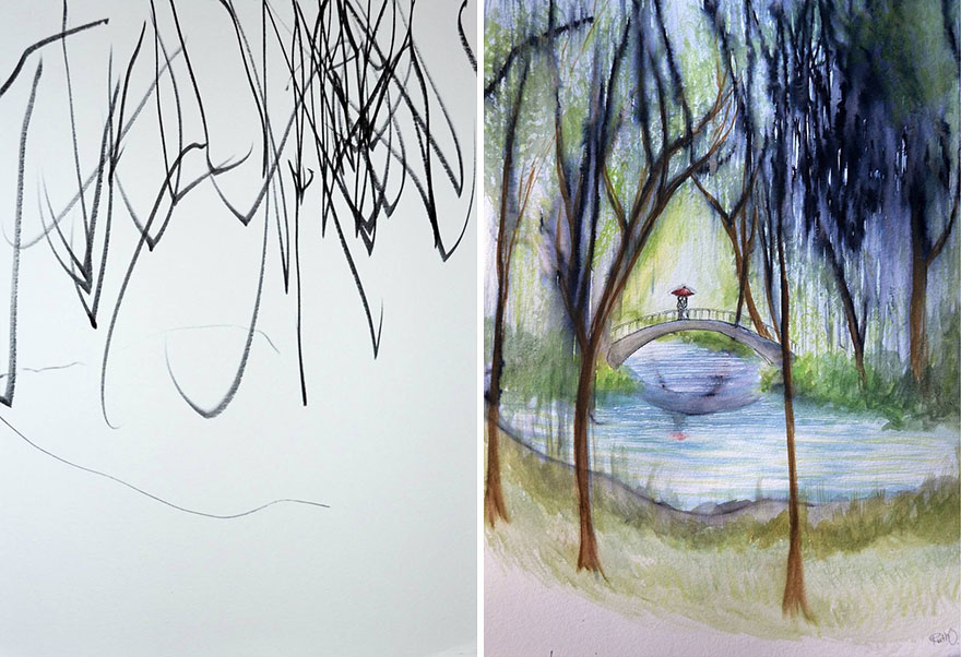 mom-turns-kid-doodles-into-paintings-2 (1)