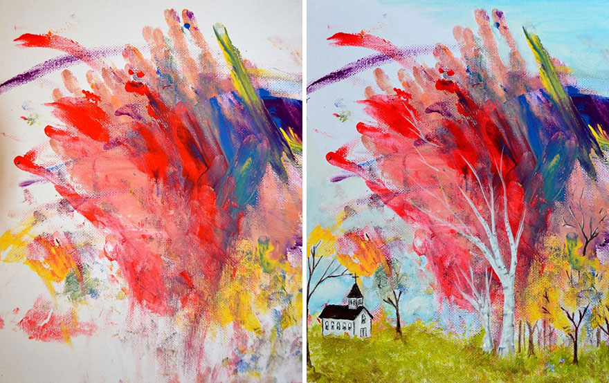 mom-turns-kid-doodles-into-paintings-6